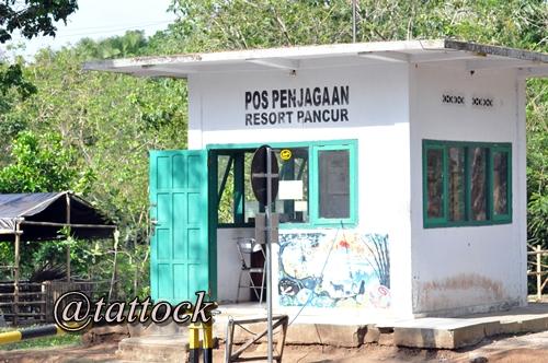 Pos penjagaan di Resort Pancur.