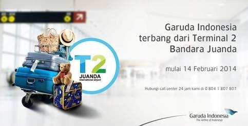 Flyer kepindahan Garuda Indonesia ke Terminal 2 (T2) Juanda