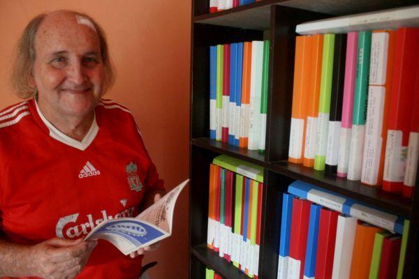 Paul Cumming, dengan baju klub kesayangannya, Liverpool (Aqwan/PFI/detiksport)